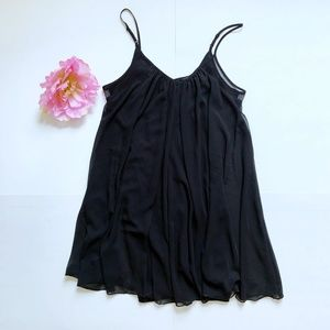 EXPRESS Black Sheer Tank Top M